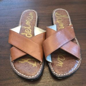 Sam Edelman Gertrude Genuine Leather Sandals/Slide